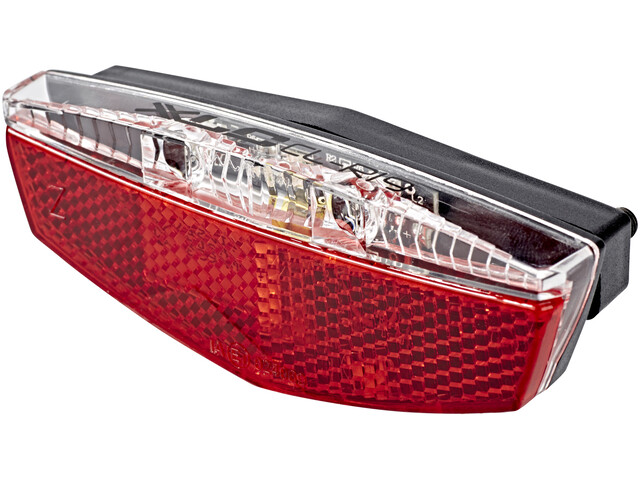 XLC Luggage Rack Bike Light Incl reflector & parking light red